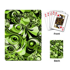 Retro Green Abstract Playing Cards Single Design by StuffOrSomething