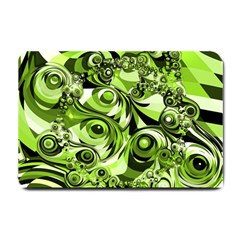 Retro Green Abstract Small Door Mat by StuffOrSomething