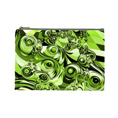 Retro Green Abstract Cosmetic Bag (large) by StuffOrSomething