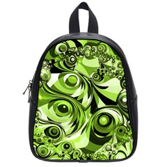 Retro Green Abstract School Bag (small) by StuffOrSomething