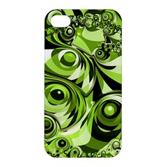 Retro Green Abstract Apple Iphone 4/4s Hardshell Case by StuffOrSomething