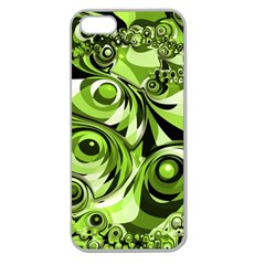 Retro Green Abstract Apple Seamless Iphone 5 Case (clear) by StuffOrSomething