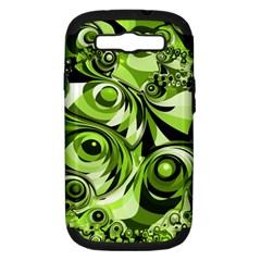 Retro Green Abstract Samsung Galaxy S Iii Hardshell Case (pc+silicone)