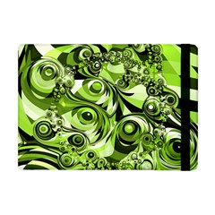 Retro Green Abstract Apple Ipad Mini Flip Case by StuffOrSomething
