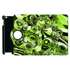 Retro Green Abstract Apple Ipad 3/4 Flip 360 Case by StuffOrSomething