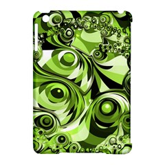 Retro Green Abstract Apple Ipad Mini Hardshell Case (compatible With Smart Cover) by StuffOrSomething