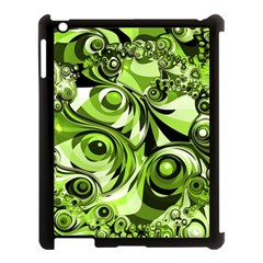Retro Green Abstract Apple Ipad 3/4 Case (black) by StuffOrSomething