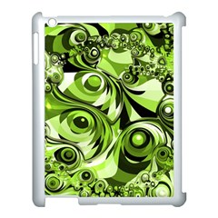 Retro Green Abstract Apple Ipad 3/4 Case (white) by StuffOrSomething