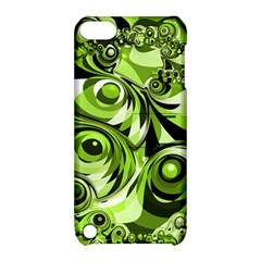 Retro Green Abstract Apple Ipod Touch 5 Hardshell Case With Stand by StuffOrSomething