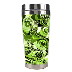 Retro Green Abstract Stainless Steel Travel Tumbler by StuffOrSomething
