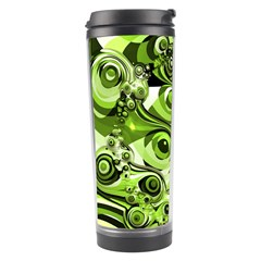 Retro Green Abstract Travel Tumbler by StuffOrSomething