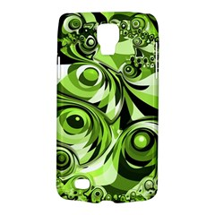Retro Green Abstract Samsung Galaxy S4 Active (i9295) Hardshell Case by StuffOrSomething