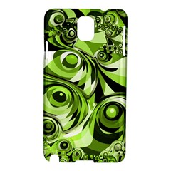 Retro Green Abstract Samsung Galaxy Note 3 N9005 Hardshell Case by StuffOrSomething