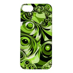 Retro Green Abstract Apple Iphone 5s Hardshell Case by StuffOrSomething