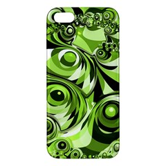 Retro Green Abstract Iphone 5s Premium Hardshell Case by StuffOrSomething