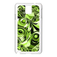 Retro Green Abstract Samsung Galaxy Note 3 N9005 Case (white) by StuffOrSomething
