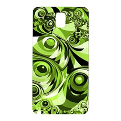 Retro Green Abstract Samsung Galaxy Note 3 N9005 Hardshell Back Case by StuffOrSomething