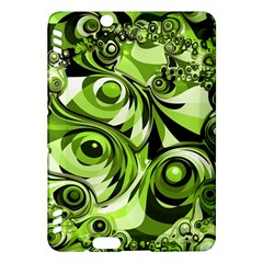 Retro Green Abstract Kindle Fire Hdx 7  Hardshell Case by StuffOrSomething