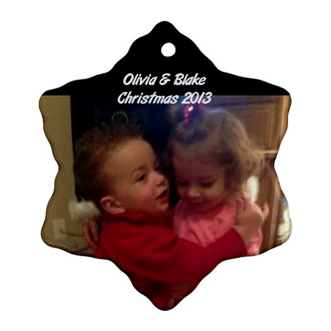 Olivia  By Lee   Ornament (snowflake)   Uncyf1zada3p   Www Artscow Com Front