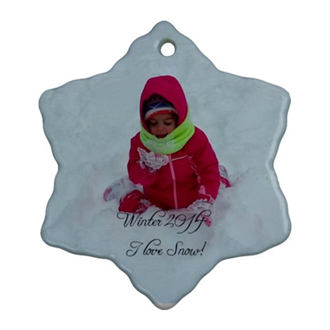 Winter 2014 2 By Lee   Ornament (snowflake)   Aqqhsuau7xg6   Www Artscow Com Front