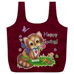Happy Spring Full Print Recycle Bag, Xl By Joy Johns   Full Print Recycle Bag (xl)   A9xaikoaq8ca   Www Artscow Com Front