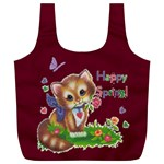 Happy Spring full print recycle bag, XL - Full Print Recycle Bag (XL)