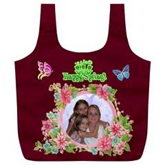 Happy Spring Full Print Recycle Bag, Xl By Joy Johns   Full Print Recycle Bag (xl)   A9xaikoaq8ca   Www Artscow Com Back