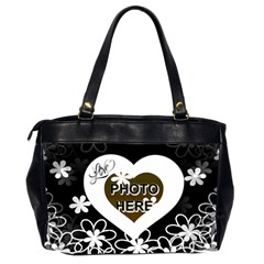 Love Flowers Office Handbag, 2 Sides By Joy Johns   Oversize Office Handbag (2 Sides)   Umnit6ey2w1n   Www Artscow Com Back