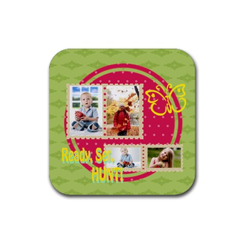 Easter By Easter   Rubber Coaster (square)   0p66kzogkizs   Www Artscow Com Front