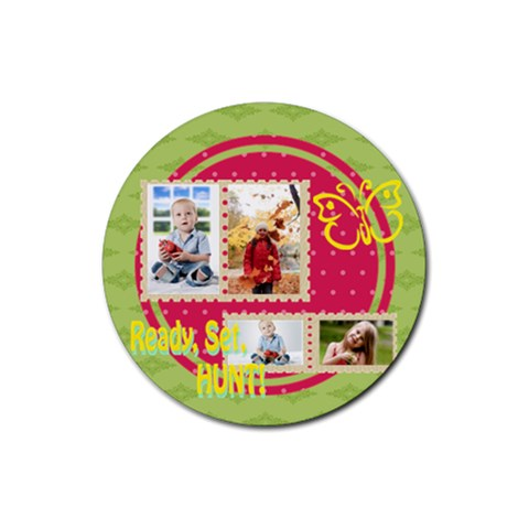 Easter By Easter   Rubber Round Coaster (4 Pack)   Negjpg433xca   Www Artscow Com Front