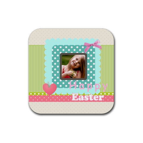 Easter By Easter   Rubber Coaster (square)   Rcuisskfffmt   Www Artscow Com Front