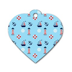 Sailing The Bay Dog Tag Heart (one Sided)  by StuffOrSomething