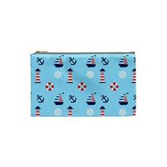Sailing The Bay Cosmetic Bag (small) by StuffOrSomething