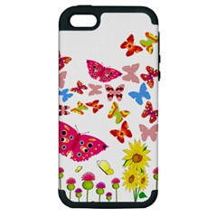 Butterfly Beauty Apple Iphone 5 Hardshell Case (pc+silicone) by StuffOrSomething