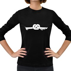 Stomach In Knots Women s Long Sleeve T Shirt (dark Colored)