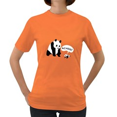 Panda Sneeze Women s T Shirt (colored)