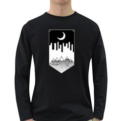 Night Melting Men s Long Sleeve T Shirt (dark Colored)