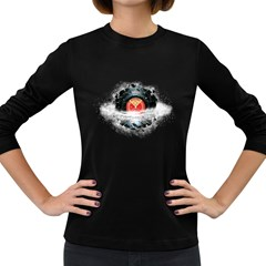 Space Tune Women s Long Sleeve T Shirt (dark Colored)