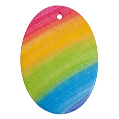 Acrylic Rainbow Oval Ornament by StuffOrSomething