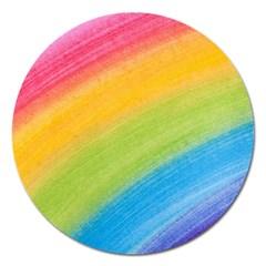 Acrylic Rainbow Magnet 5  (round) by StuffOrSomething