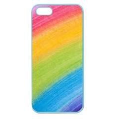 Acrylic Rainbow Apple Seamless Iphone 5 Case (color) by StuffOrSomething