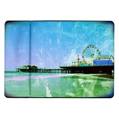 Blue Santa Monica Pier Samsung Galaxy Tab 10 1  P7500 Flip Case by stineshop