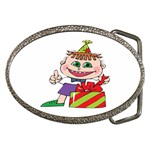 Happy Green Eyed Boy Belt Buckle