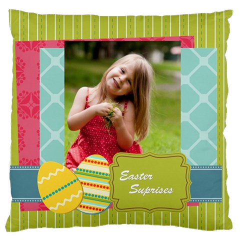 Easter By Easter   Large Cushion Case (one Side)   Un0jolgdnjhx   Www Artscow Com Front