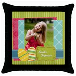 easter - Throw Pillow Case (Black)
