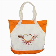 Love Music Accent Tote Bag by NoemiDesign