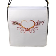Love Music Flap Closure Messenger Bag (large) by NoemiDesign