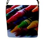crayons - Flap Closure Messenger Bag (L)