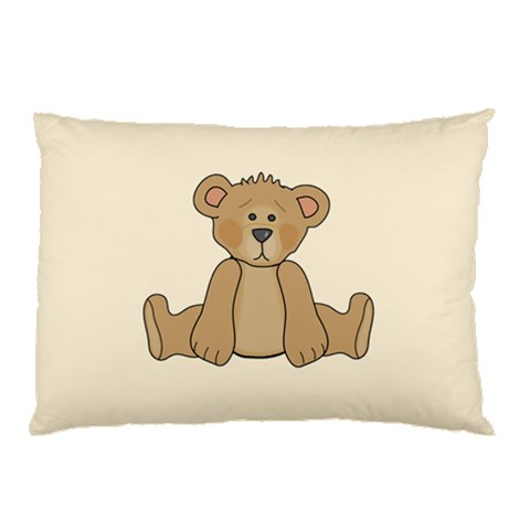 Cute Teddy By J M  Raymond   Pillow Case   Qyta2lx923rm   Www Artscow Com 26.62 x18.9 Pillow Case