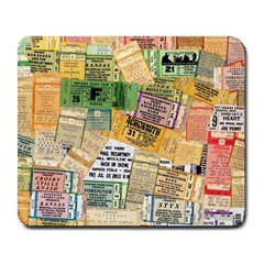 Retro Concert Tickets Large Mouse Pad (rectangle) by StuffOrSomething